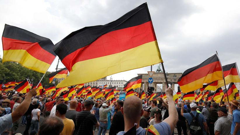 """Deutschland: """"Zukunft Deutschland""""? Demonstration der AfD im Mai 2018 vor dem Brandenburger Tor"""