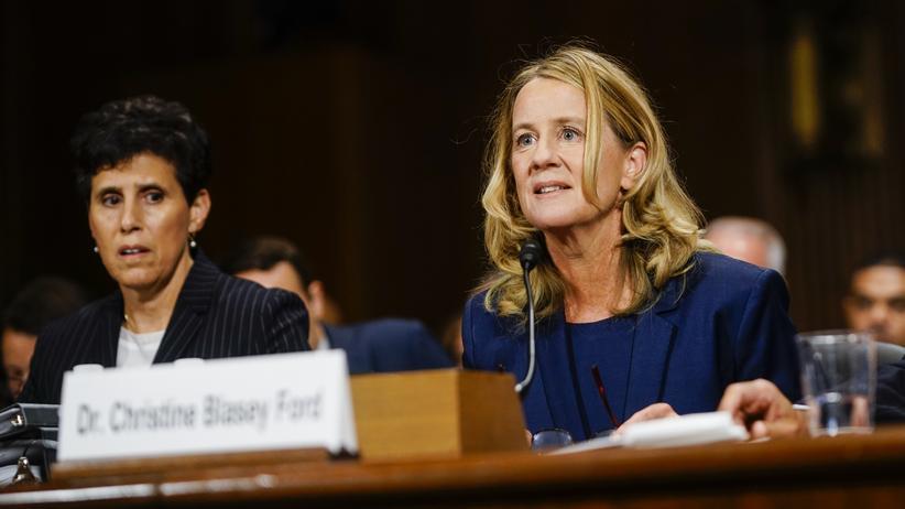 Emotionen in der Politik: Wessen Gefühle gewinnen? Christine Blasey Ford und ihre Anwältin während der Anhörung zur Ernennung von Brett Kavanaugh als Oberstem Richter der USA