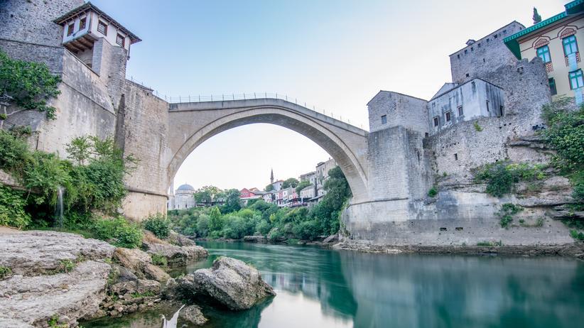 Die Brücke in Mostar, Bosnien-Herzegowinas erste Weltkulturerbestätte