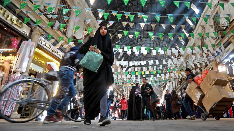 Bürgerkrieg in Syrien: Menschen auf dem Hamidiya-Markt im März 2019 in der Altstadt von Damaskus