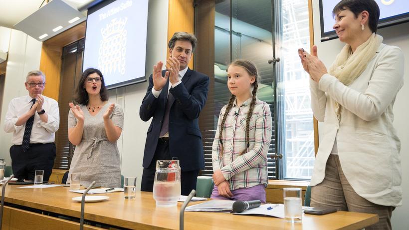 Klimaschutzaktivistin Eine Erscheinung auf die ihre Zeit gewartet hat Greta Thunberg hier im Londoner House of Parliament ist mit Hegel gedacht ein Subjekt das schon da war bevor es da war