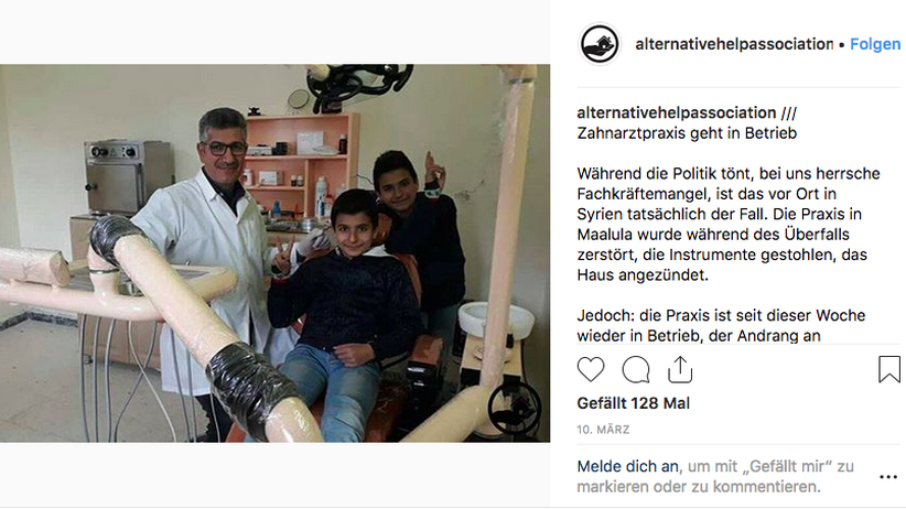 "Ein Instagram-Posting der ""Alternative Help Association"""