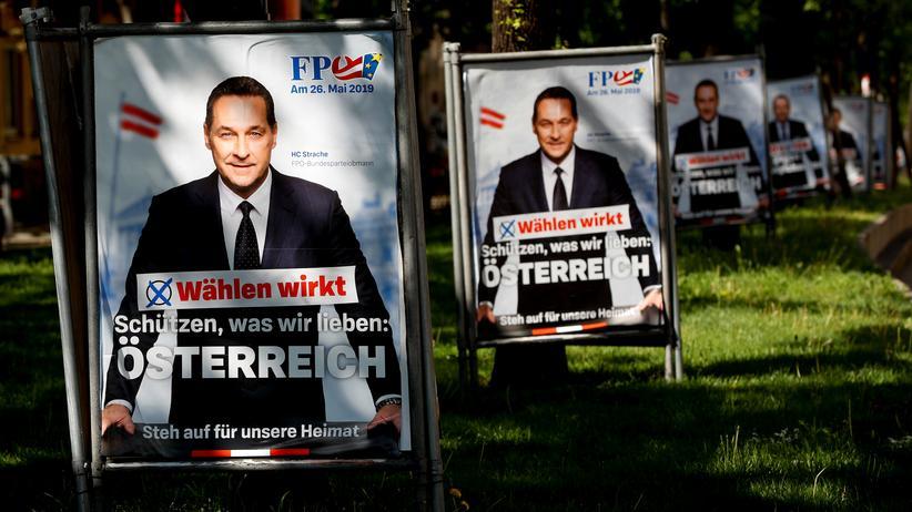 """Medien in Österreich: """"Wählen wirkt"""", ließ Heinz-Christian Strache noch auf die FPÖ-Plakate zur Europawahl schreiben."""