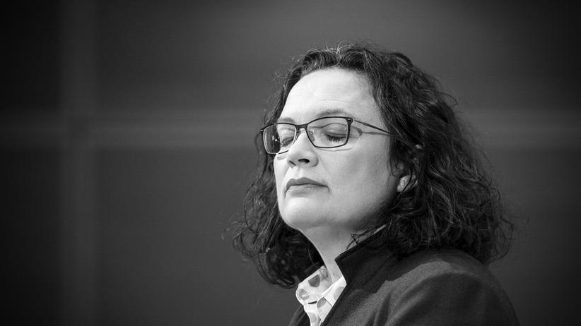 SPD: Auch ihr Rückzug passt leider in die Erzählung von der Politik als Abnutzungskampf: Andrea Nahles im Februar 2019 im Willy-Brandt-Haus