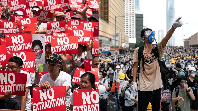Proteste in Hongkong: Anfang Juni gingen Hunderttausende in Hongkong gegen das Auslieferungsgesetz auf die Straße. Aus der Konfrontation von Demonstranten und Polizei erwuchsen Feindseligkeit und Hass.