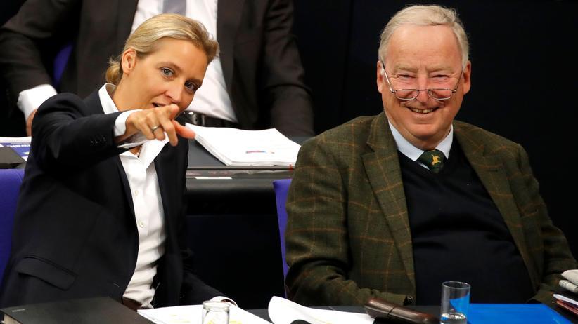 Rechtspopulisten: Alice Weidel und Alexander Gauland, die beiden Vorsitzenden der AfD-Fraktion im Bundestag