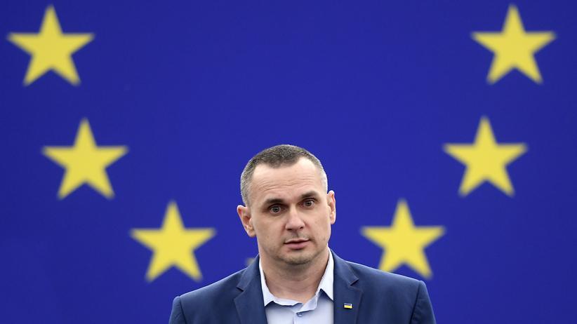 EU-Parlament: Der Filmemacher Oleh Senzow im EU-Parlament