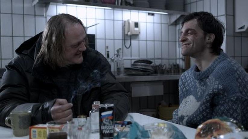 """Film """"Snowman's Land"""": Walter (Jürgen Rißmann, links) und Micky (Thomas Wodianka) spielen ein glückloses Gaunerpaar"""