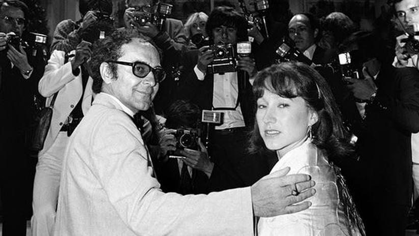 Jean-Luc Godard zum 80.: Jean-Luc Godard 1980 in Cannes in Begleitung der französischen Schauspielerin Nathalie Baye
