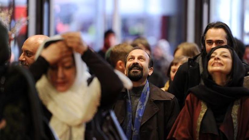 Der iranische Regisseur Asghar Farhadi während der Berlinale in Berlin