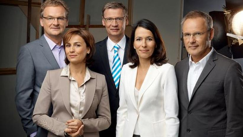 ARD-Talkshows: Die ARD-Talkshowmoderatoren (von links nach rechts) Frank Plasberg, Sandra Maischberger, Günther Jauch, Anne Will und Reinhold Beckmann