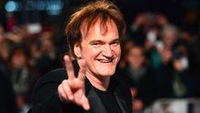 Quentin Tarantino in Heldenpose