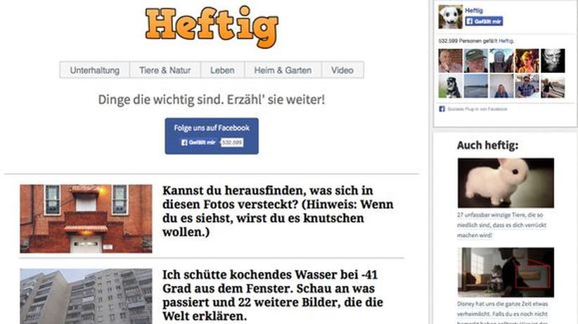 Heftig.co: Ein Blick ins Unterhaltungsressort von heftig.co
