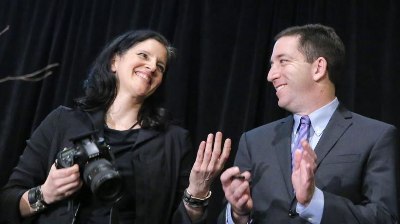 """""""Citizenfour"""": Laura Poitras und Glenn Greenwald bei einer Preisverleihung in New York im April 2014"""