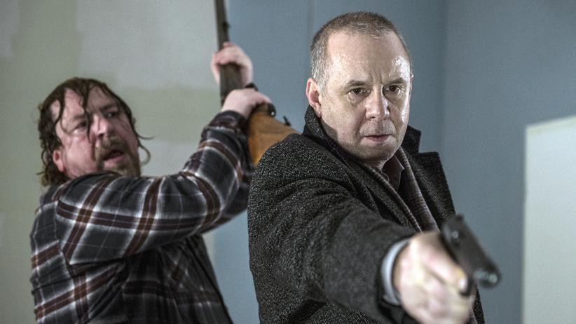 """""""Tatort"""" Frankfurt: Rolf Poller (Armin Rohde) und Kriminalhauptkommissar Frank Steier (Joachim Król) in """"Das Haus am Ende der Straße"""""""