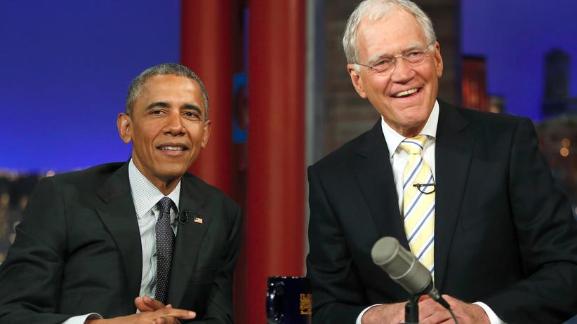 Barack Obama und David Letterman
