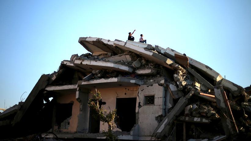 Ruine in Gaza-Stadt