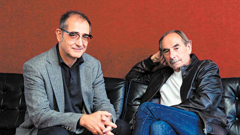 """Samir und Xavier Koller: Samir, 60, (l.) kam als Siebenjähriger aus Bagdad in die Schweiz. Heute lebt er in Zürich. Xavier Koller, 71, wuchs in der Innerschweiz auf. 1991 zog er nach Los Angeles. Sein neuster Film """"Schellenursli"""" kommt am 15. Oktober in die Kinos."""