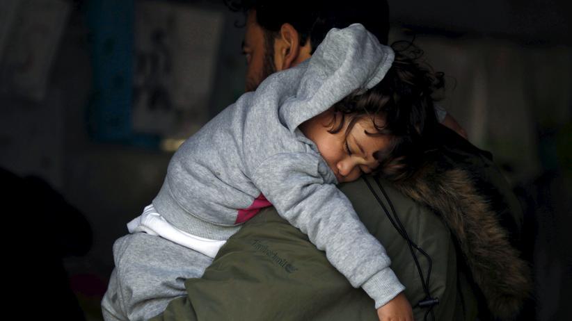 Flüchtlinge an der mazedonischen Grenze