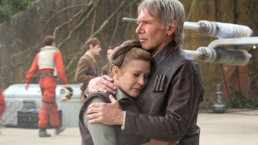 """""""Star Wars"""": Ein schöner, melancholischer Moment: 32 Jahre nach der """"Rückkehr der Jedi-Ritter"""" treffen sich Carrie Fisher und Harrison Ford wieder."""