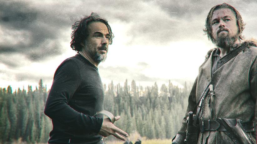 """""""The Revenant – Der Rückkehrer"""": Alejandro González Iñárritu und Leonardo DiCaprio am Set von """"The Revenant"""""""