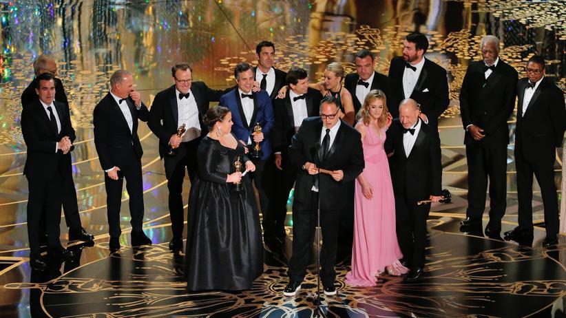 """Oscarverleihung: Der Film """"Spotlight"""" ist mit dem Oscar für den besten Film ausgezeichnet worden."""
