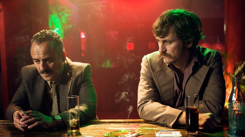 """""""Mörderland"""": Die beiden Kriminalbeamten Juan (Javier Gutiérrez, l.) und Pedro (Raúl Arévalo) trennt mehr als persönliche Abneigung."""