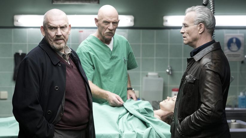 """""""Tatort"""" Köln: Freddy Schenk (Dietmar Bär, li.), Gerichtsmediziner Joseph Roth (Joe Bausch, M.) und Max Ballauf (Klaus J. Behrendt)"""