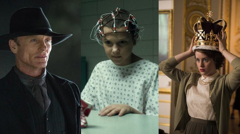 """Jahresrückblick: Der Gunslinger in """"Westworld"""", das namenlose Mädchen in """"Stranger Things"""", Königin Elizabeth II. in """"The Crown"""" - Protagonisten der besten Serien 2016"""