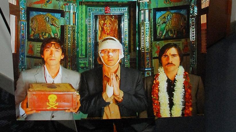 The Darjeeling Limited: Adrien Brody (li.), Owen Wilson (Mitte) und Jason Schwartzman