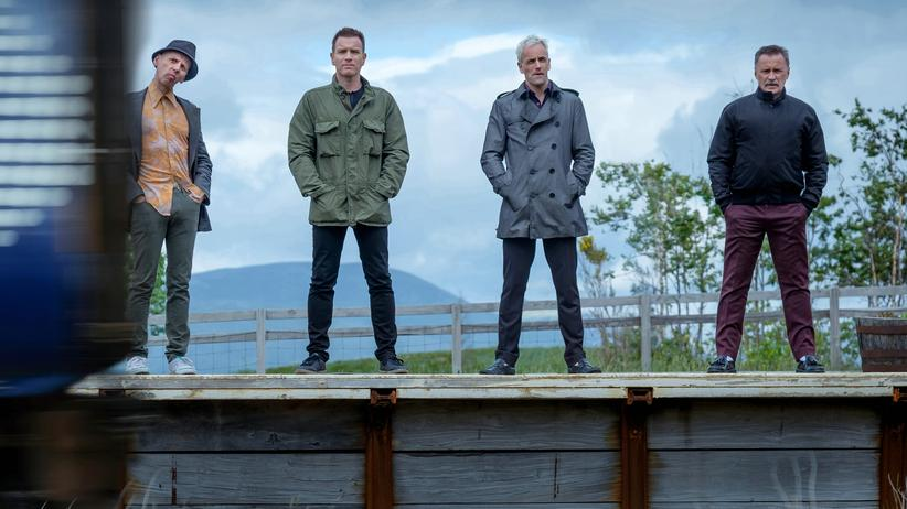 """T2 Trainspotting"": Da sind sie ja alle wieder: Spud (Ewen Bremner), Renton (Ewan McGregor), Simon (Jonny Lee Miller) und Begbie (Robert Carlyle) in Danny Boyles ""T2 Trainspotting""."