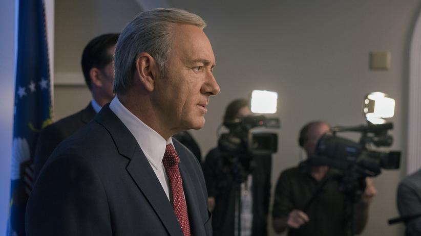 """""""House of Cards"""": Von der Realität übertroffen. Kevin Spacey als Präsident Underwood in der fünften Staffel von """"House of Cards""""."""