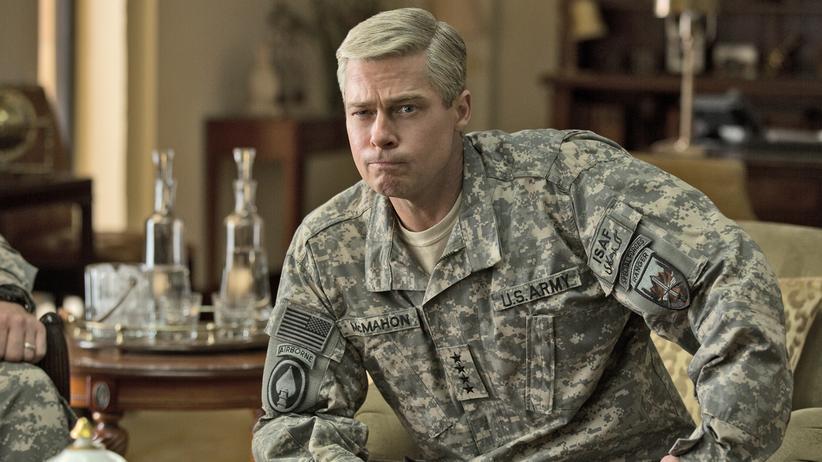 """""""War Machine"""": Die Brad-Pitt-Actionfigur in ihrer werksvorgegebenen Ruhestellung."""