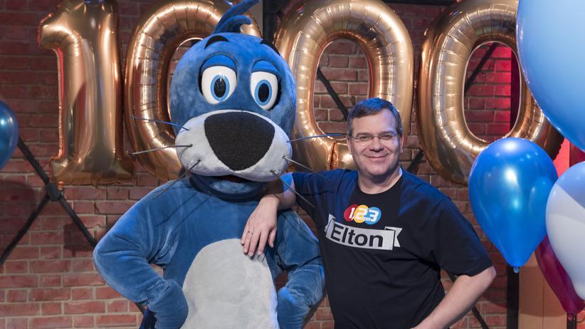 """Geschlechtervielfalt: Vor allem im Kinderfernsehen dominieren Männer: Elton und Piet Flosse in der ZDF-Sendung """"1, 2 oder 3""""."""