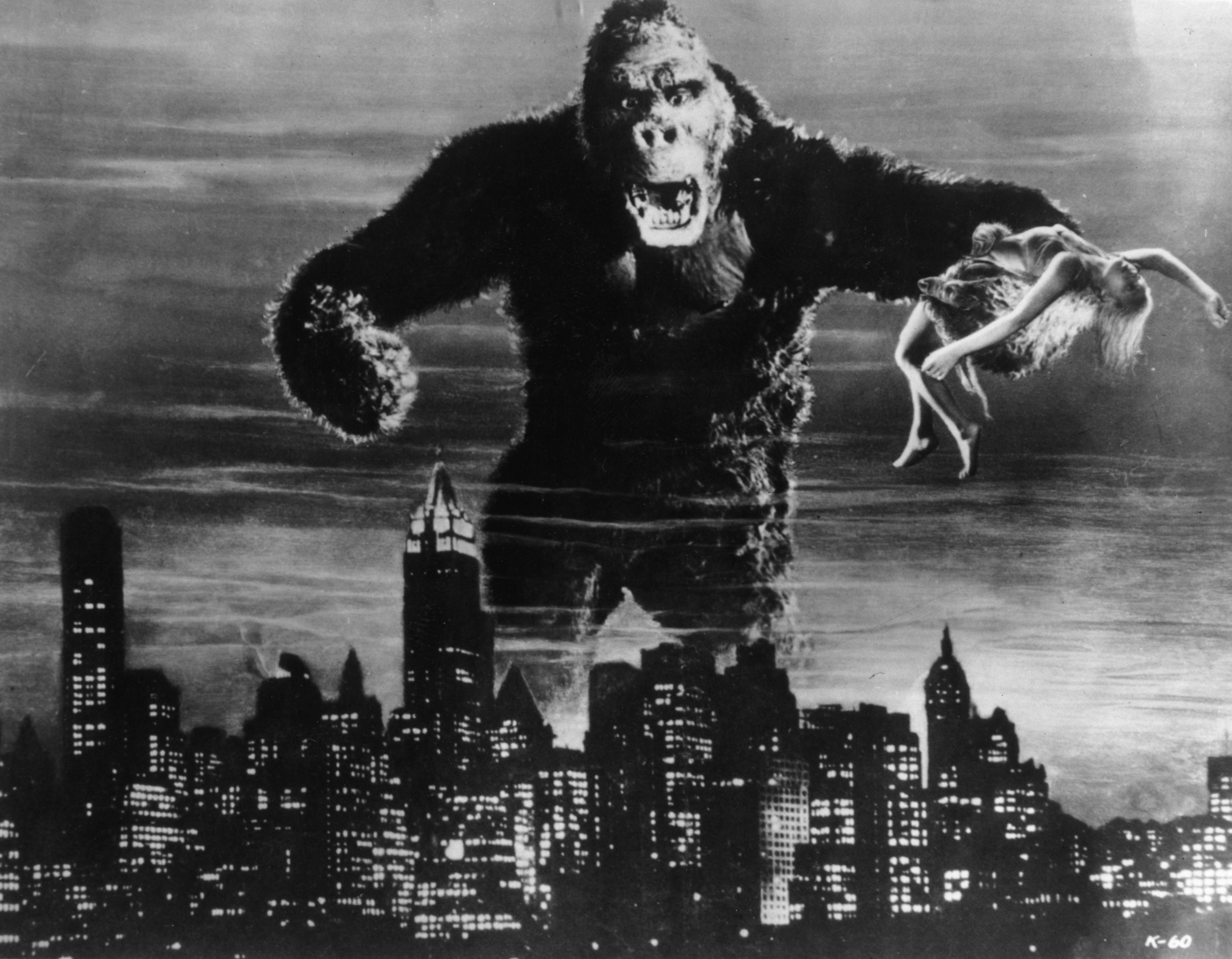 """Sexismus in Hollywood: """"King Kong"""", 1933: Die Monster und Superhelden von Hollywood stehen als Metaphern für die ungelösten Verhältnisse von Sexualität und Macht in unseren Kulturen."""