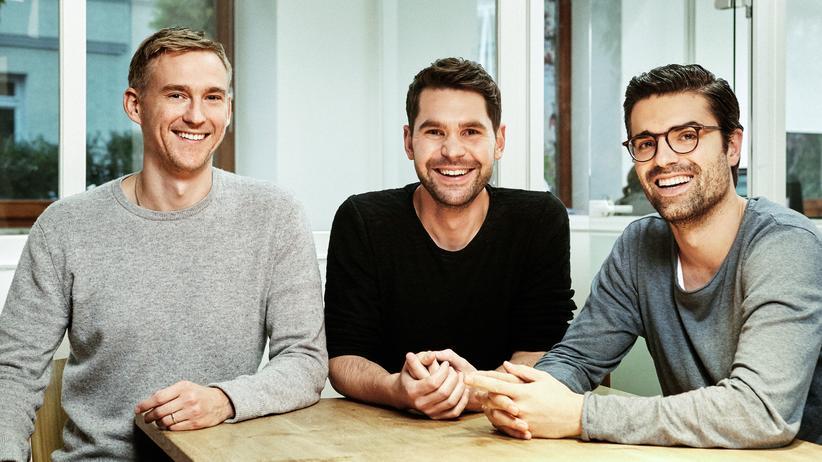 Deutsche Serien: Die Produzenten der NEUESUPER: Rafael Parente (l.), Korbinian Dufter (m.) und Simon Amberger (r.)