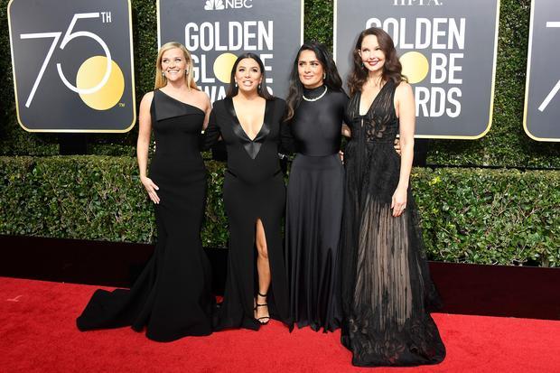 Golden Globes: Die Schauspielerinnen Reese Witherspoon, Eva Longoria, Salma Hayek und Ashley Judd (von links nach rechts)
