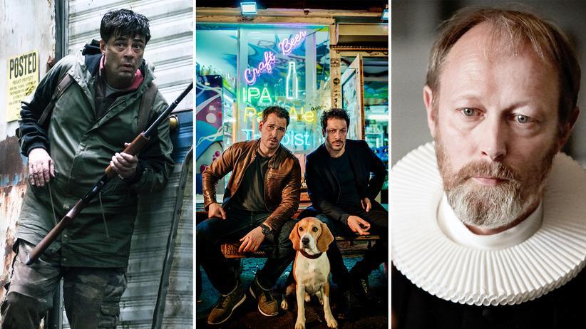 """Binge-Watching: Benicio del Toro in """"Escape at Dannemora"""", Felix Kramer und Fahri Yardim in """"Dogs of Berlin"""" und Lars Mikkelsen in """"Die Wege des Herrn"""""""