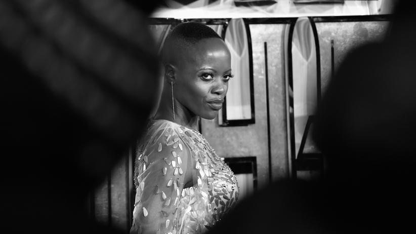 "Florence Kasumba bei der Europa-Premiere von ""Black Panther"" in London."