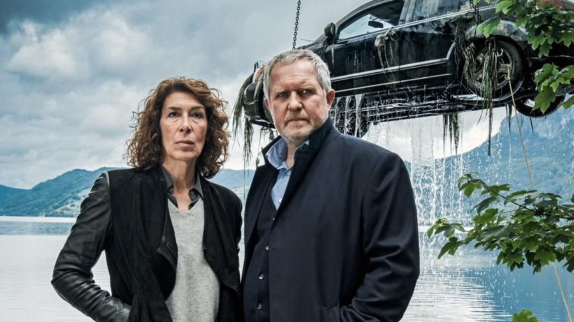 """""""Tatort"""" Wien: Einen dicken Fisch am Kran: Bibi Fellner (Adele Neuhauser) und Moritz Eisner (Harald Krassnitzer) im Wiener """"Tatort"""""""