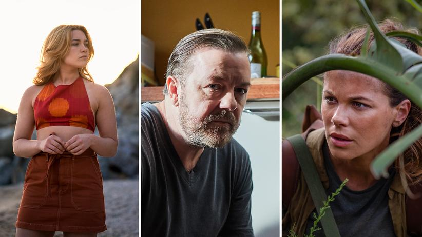 """Binge-Watching: Florence Pugh in """"Die Libelle"""", Ricky Gervais in """"After Life"""" und Kate Beckinsale in """"The Widow"""""""