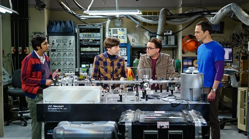 Die vier Freunde aus The Big Bang Theory sind brillante Wissenschaftler.