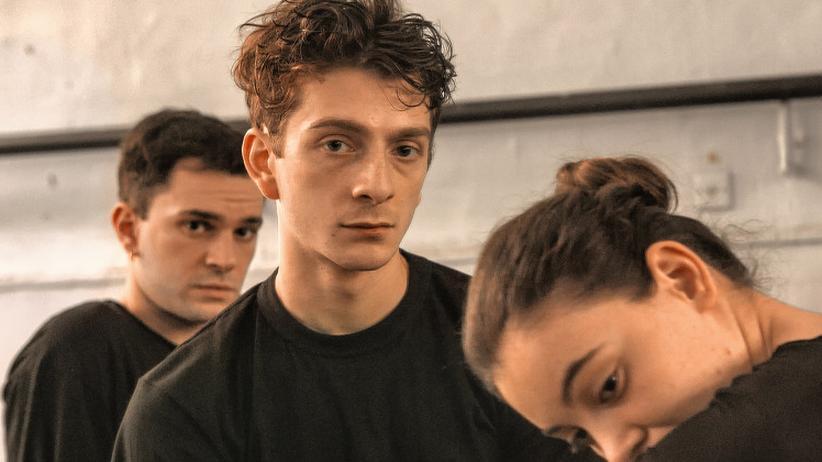 Georgien: Der Hauptdarsteller Levan Gelbakhiani (Mitte) ist für den Europäischen Filmpreis nominiert.