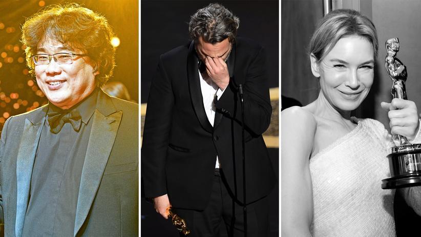 Oscars 2020: Die Preisträger Bong Joon Ho, Joaquin Phoenix und Renée Zellweger bei den Oscars