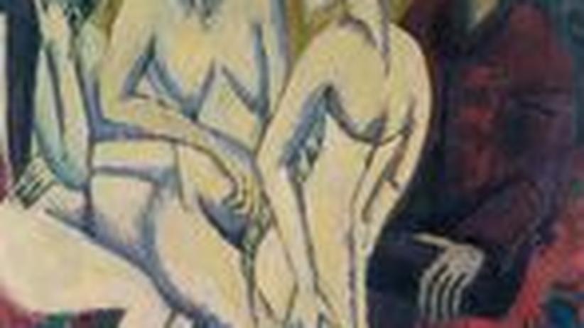 """Ernst Ludwig Kirchner """"Das Urteil des Paris"""""""