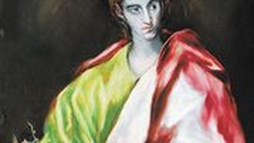 El Greco-Ausstellung in Brüssel: Nicht von dieser Welt – die seltsam verformte Gestalt des Heiligen Johannes, gemalt 1610-1614