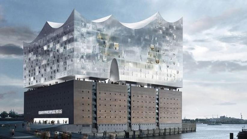 Stadtbaukunst: Mit Entwürfen wie diesem von der Elbphilharmonie in Hamburg versuchen Städte architektonisches Prestige zu gewinnen