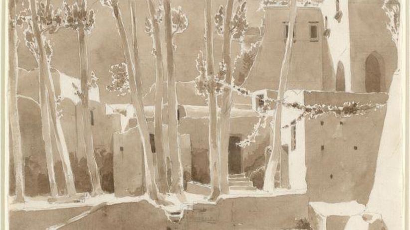 Skizzen-Kunst von Carl Blechen: Sonne, da bist du!
