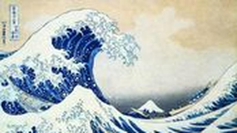 """""""Die Welle"""" von Hokusai. Weitere Werke sehen Sie, wenn Sie auf dieses Bild klicken."""