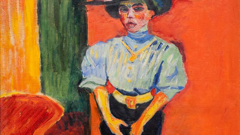 Für 20.000 Euro wurde es freigelegt: Ein frühes Damenbild von Max Pechstein